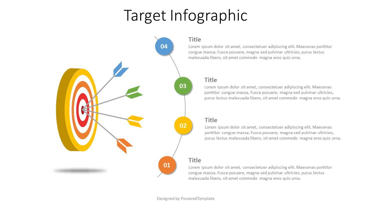 4 Arrows Hitting Target Infographic, Slide 2, 07606, Infographics — PoweredTemplate.com