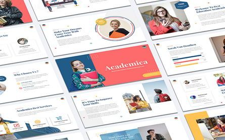 Presentation Templates: Academica - Education Course Powerpoint Template #07607