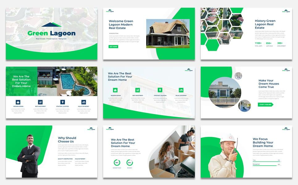 Green Lagoon - Real Estate presentation, Slide 2, 07609, Stage Diagrams — PoweredTemplate.com