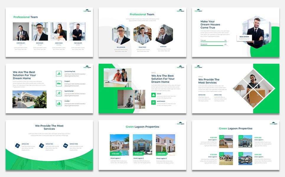 Green Lagoon - Real Estate presentation, Slide 3, 07609, Stage Diagrams — PoweredTemplate.com