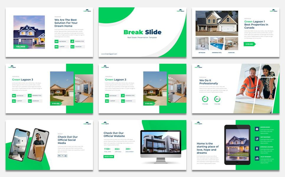 Green Lagoon - Real Estate presentation, Slide 4, 07609, Stage Diagrams — PoweredTemplate.com