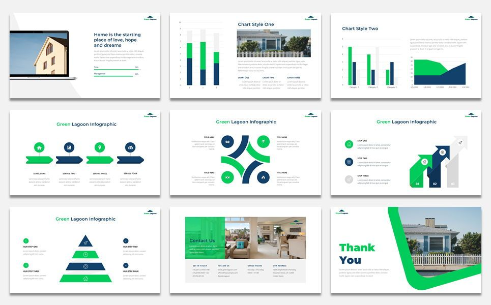 Green Lagoon - Real Estate presentation, Slide 5, 07609, Stage Diagrams — PoweredTemplate.com