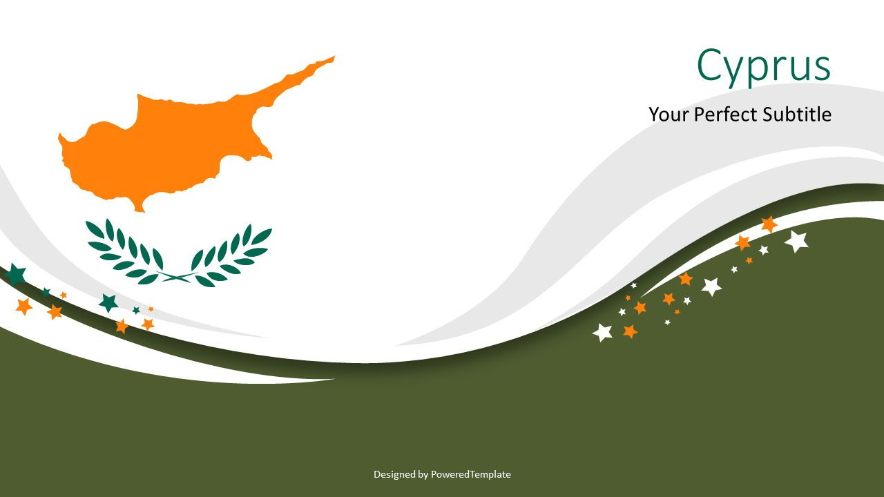 Independence Day of Cyprus Cover Slide, 07614, Presentation Templates — PoweredTemplate.com