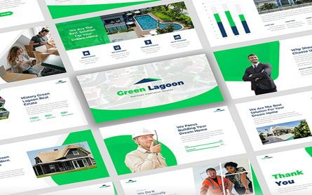 Presentation Templates: Green Lagoon - Real Estate Google Slide #07616