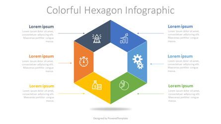Infographics: Colorful Hexagon Infographic #07617