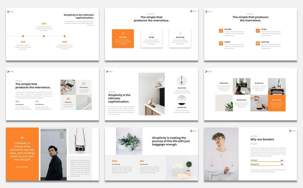 Morbe - Minimal Creative Google Slide Template, Slide 3, 07618, Presentation Templates — PoweredTemplate.com