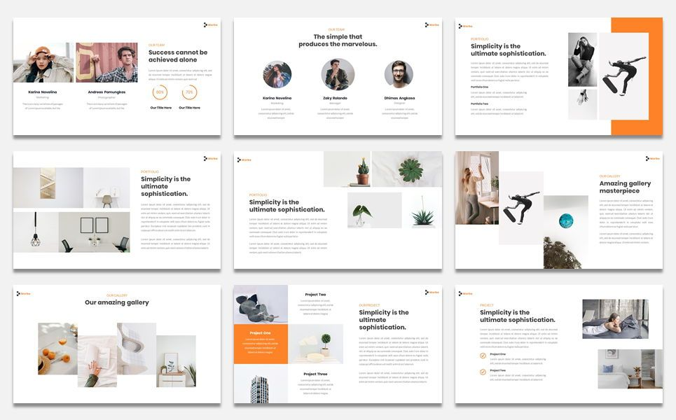 Morbe - Minimal Creative Google Slide Template, Slide 4, 07618, Presentation Templates — PoweredTemplate.com