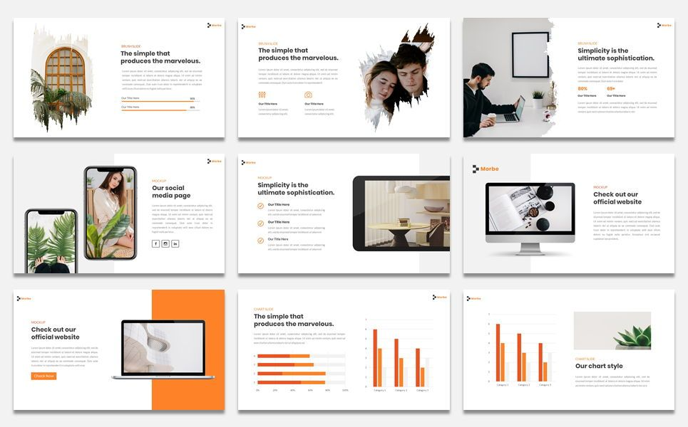 Morbe - Minimal Creative Google Slide Template, Slide 5, 07618, Presentation Templates — PoweredTemplate.com
