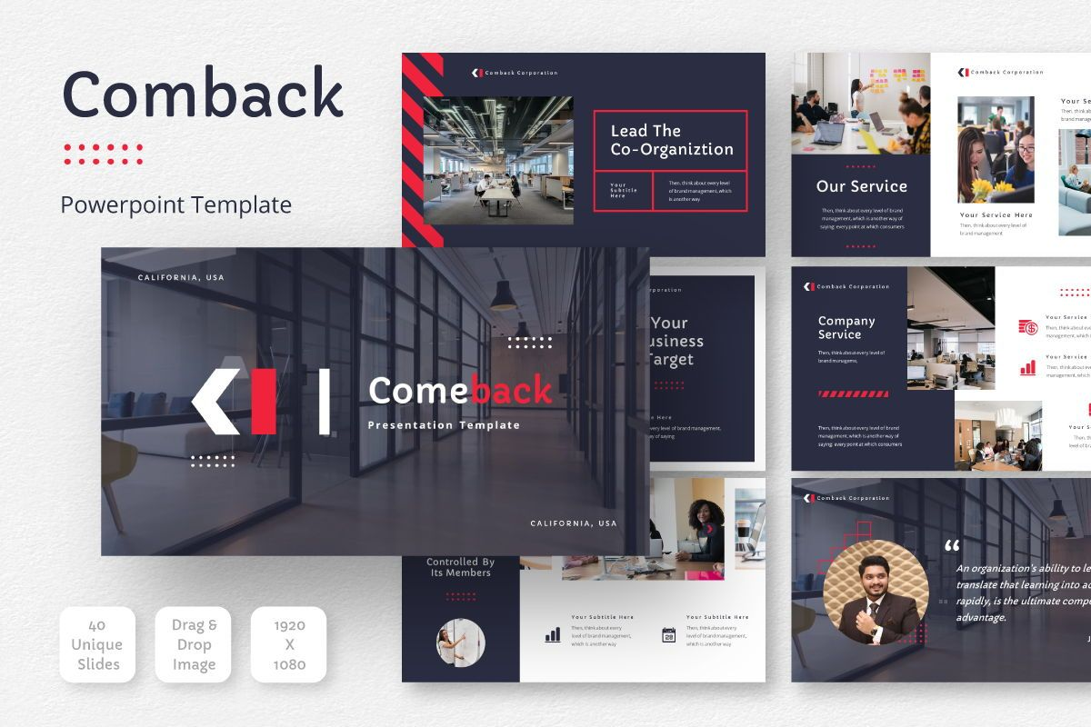Comback Business Powerpoint Template, 07622, Business Models — PoweredTemplate.com
