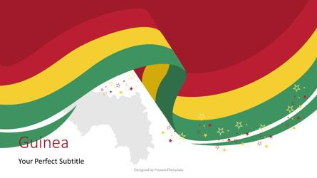 Presentation Templates: Guinea Independence Day Flag Ribbon #07625