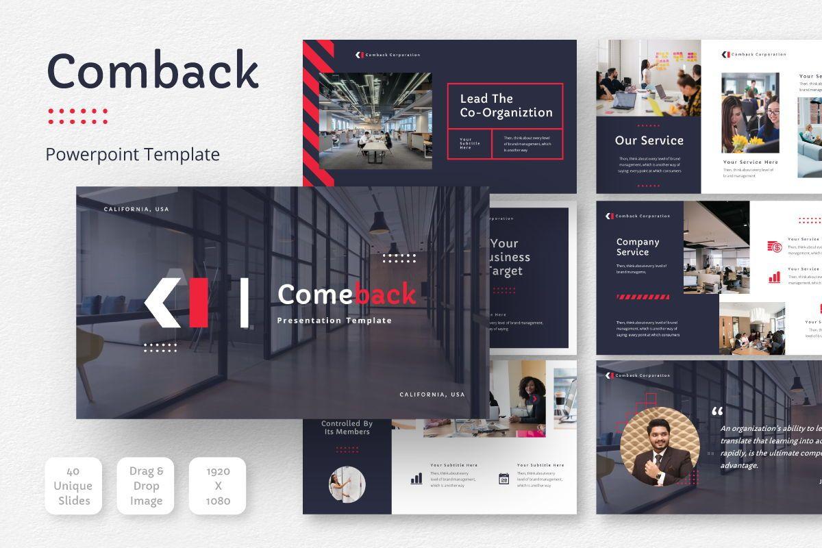 Comback Business Google Slide Template, 07626, Business Models — PoweredTemplate.com