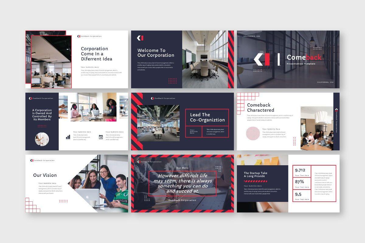 Comback Business Google Slide Template, Slide 2, 07626, Business Models — PoweredTemplate.com