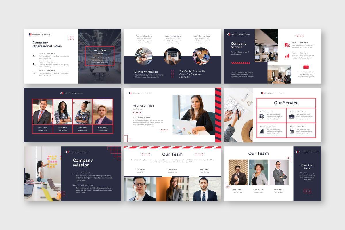 Comback Business Google Slide Template, Slide 3, 07626, Business Models — PoweredTemplate.com
