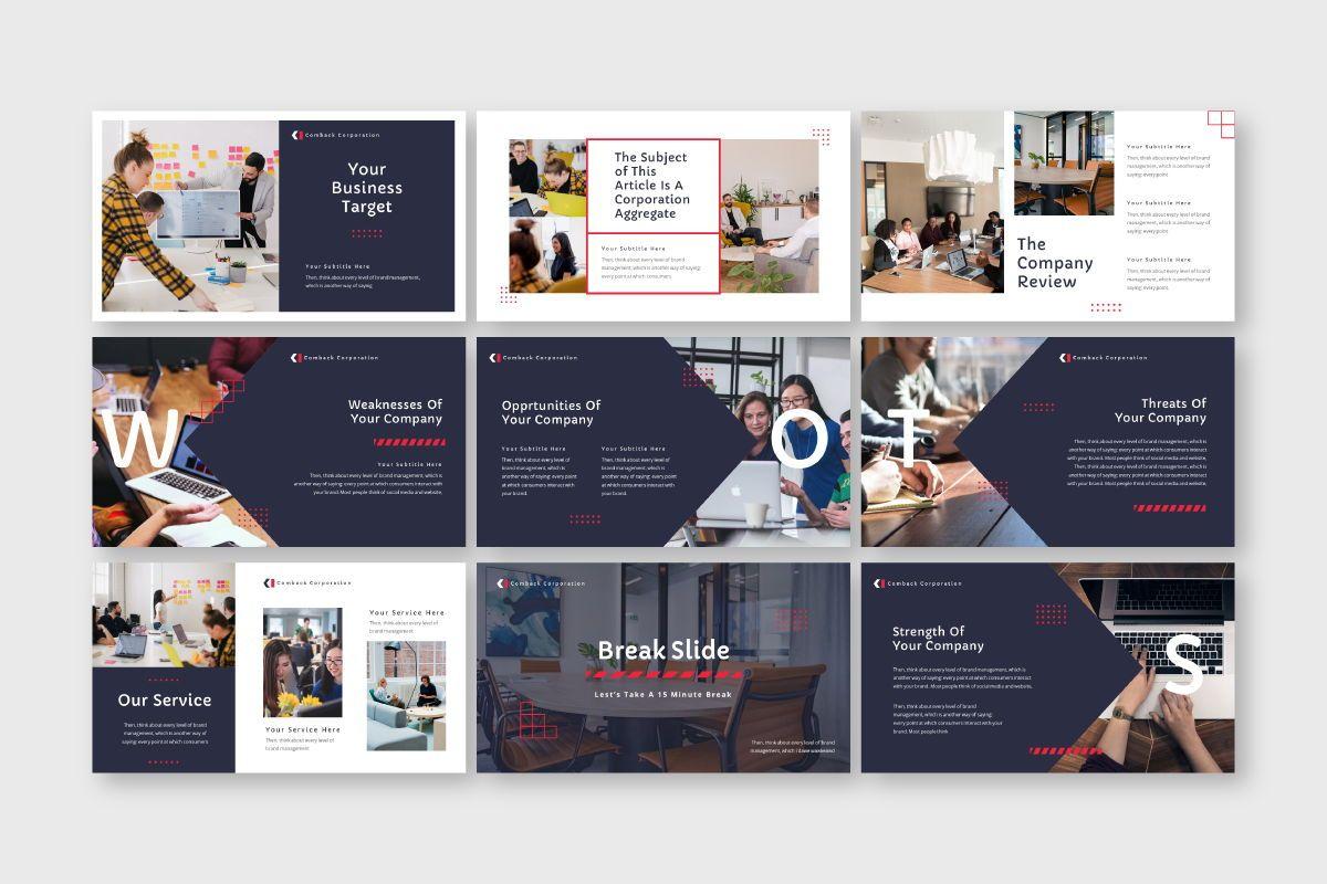 Comback Business Google Slide Template, Slide 4, 07626, Business Models — PoweredTemplate.com