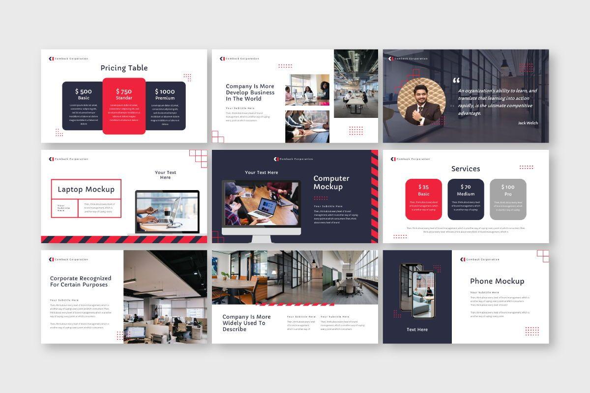 Comback Business Google Slide Template, Slide 5, 07626, Business Models — PoweredTemplate.com
