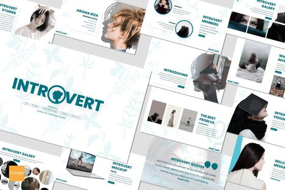 Presentation Templates: Introvert - Google Slides Template #07627