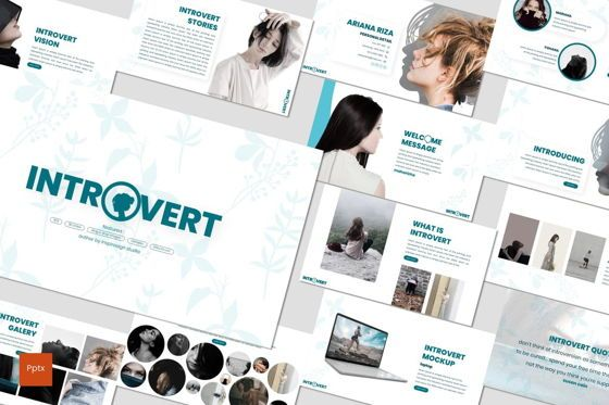 Presentation Templates: Introvert - PowerPoint Template #07629