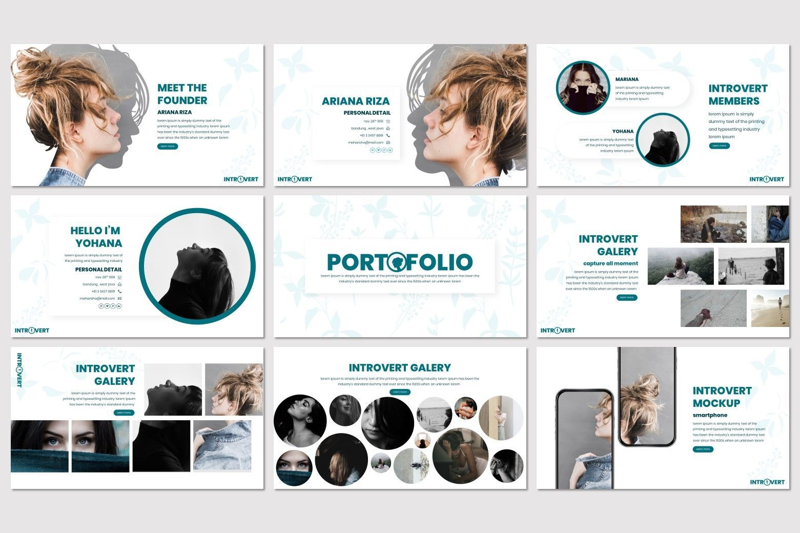 Introvert - PowerPoint Template, Slide 4, 07629, Presentation Templates — PoweredTemplate.com