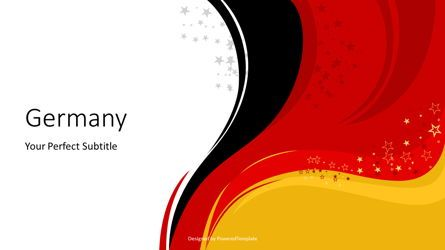 Presentation Templates: Happy Germany Independent Day Cover Slide #07630