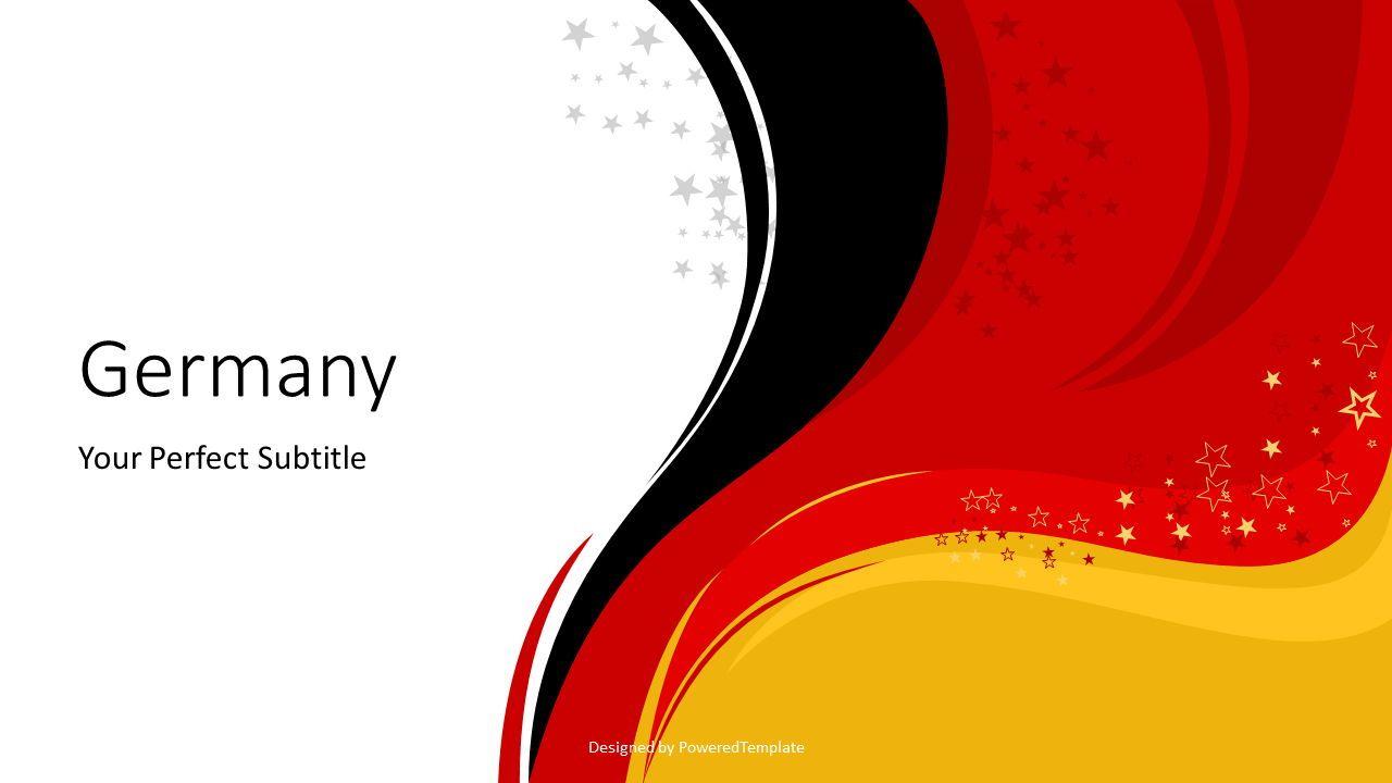 Happy Germany Unity Day Cover Slide, 07630, Presentation Templates — PoweredTemplate.com