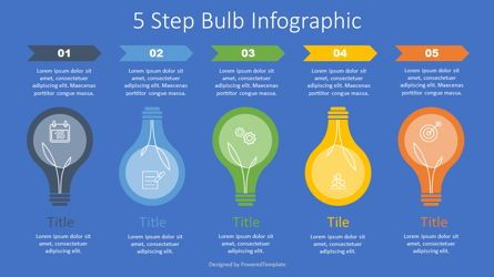 Infographics: 5 Step Bulb Infographic #07631