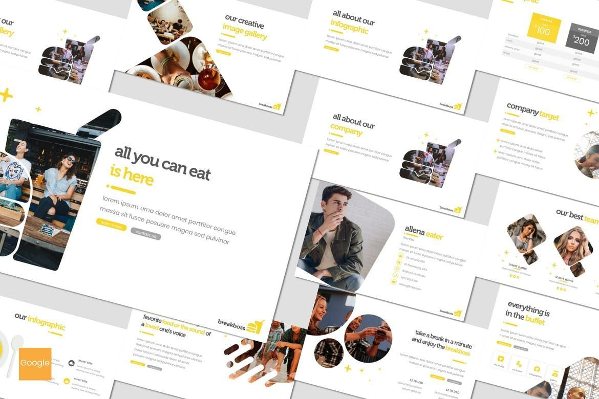 Breakboss - Google Slides Template, 07633, Presentation Templates — PoweredTemplate.com