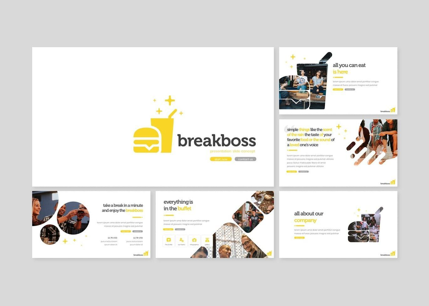 Breakboss - Google Slides Template, Slide 2, 07633, Presentation Templates — PoweredTemplate.com