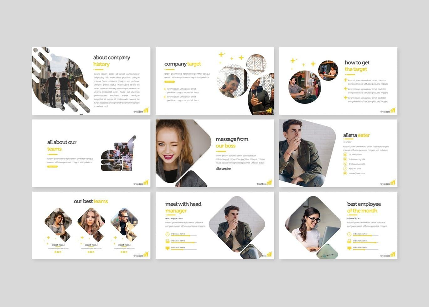 Breakboss - Google Slides Template, Slide 3, 07633, Presentation Templates — PoweredTemplate.com