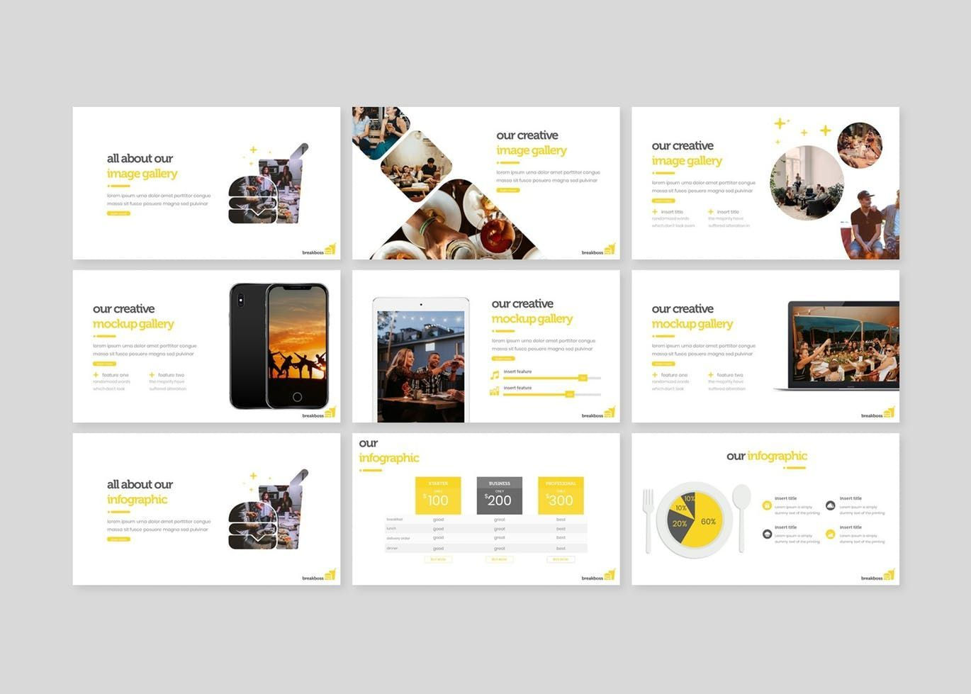 Breakboss - Google Slides Template, Slide 4, 07633, Presentation Templates — PoweredTemplate.com