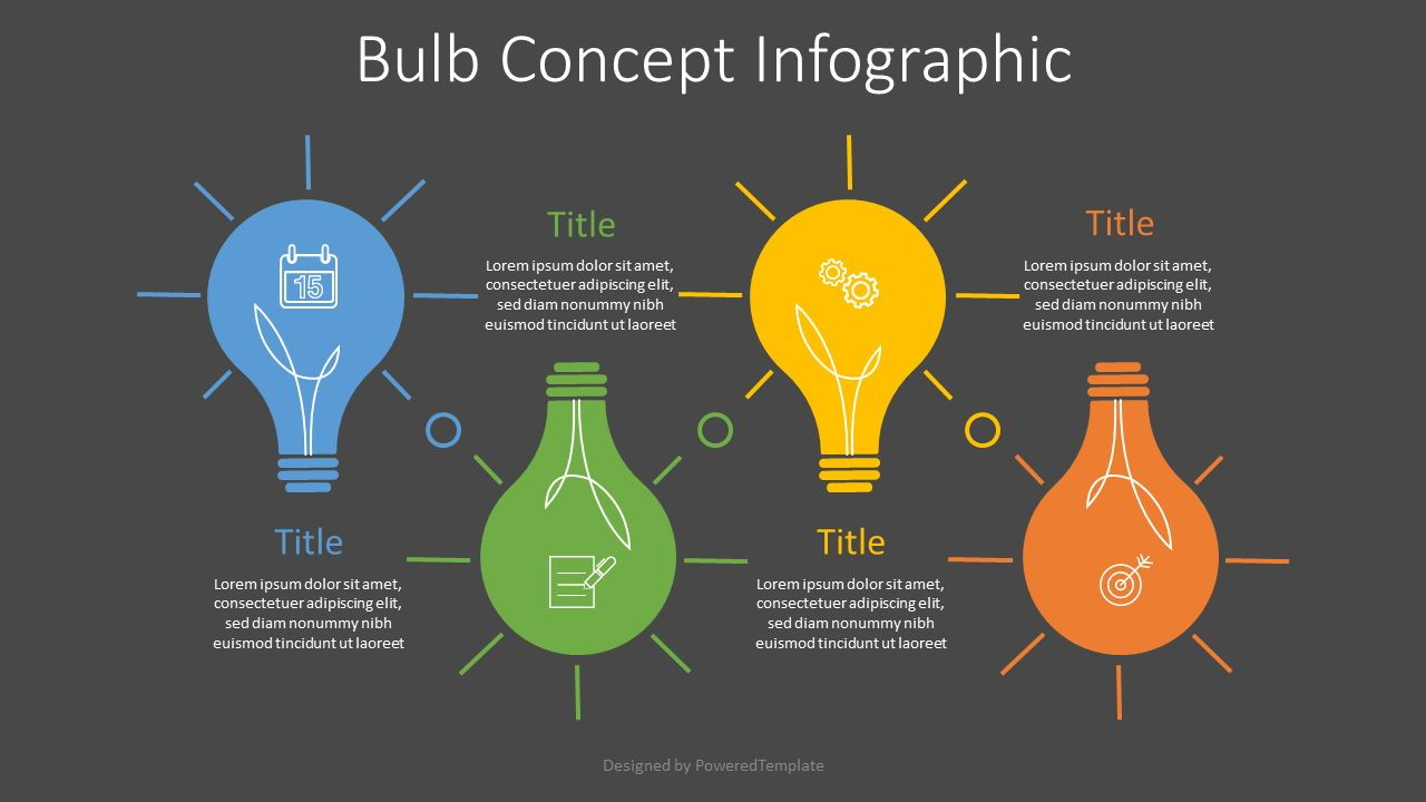Bulb Concept Infographic, 07634, Infographics — PoweredTemplate.com