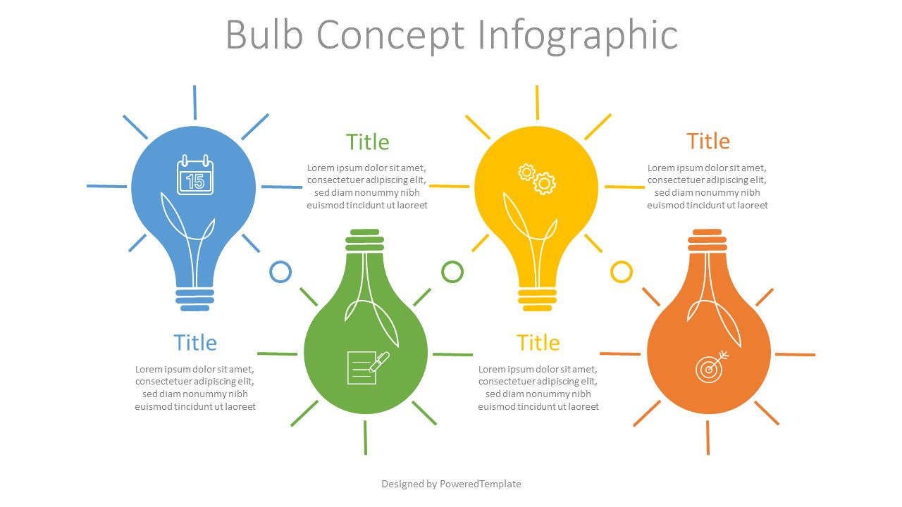 Bulb Concept Infographic, Slide 2, 07634, Infographics — PoweredTemplate.com