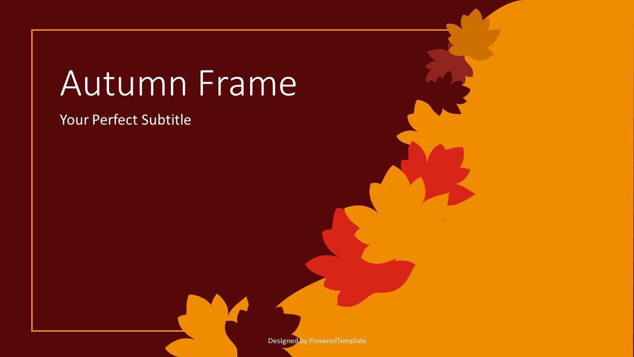 Autumn Frame Cover Slide, 07637, Presentation Templates — PoweredTemplate.com