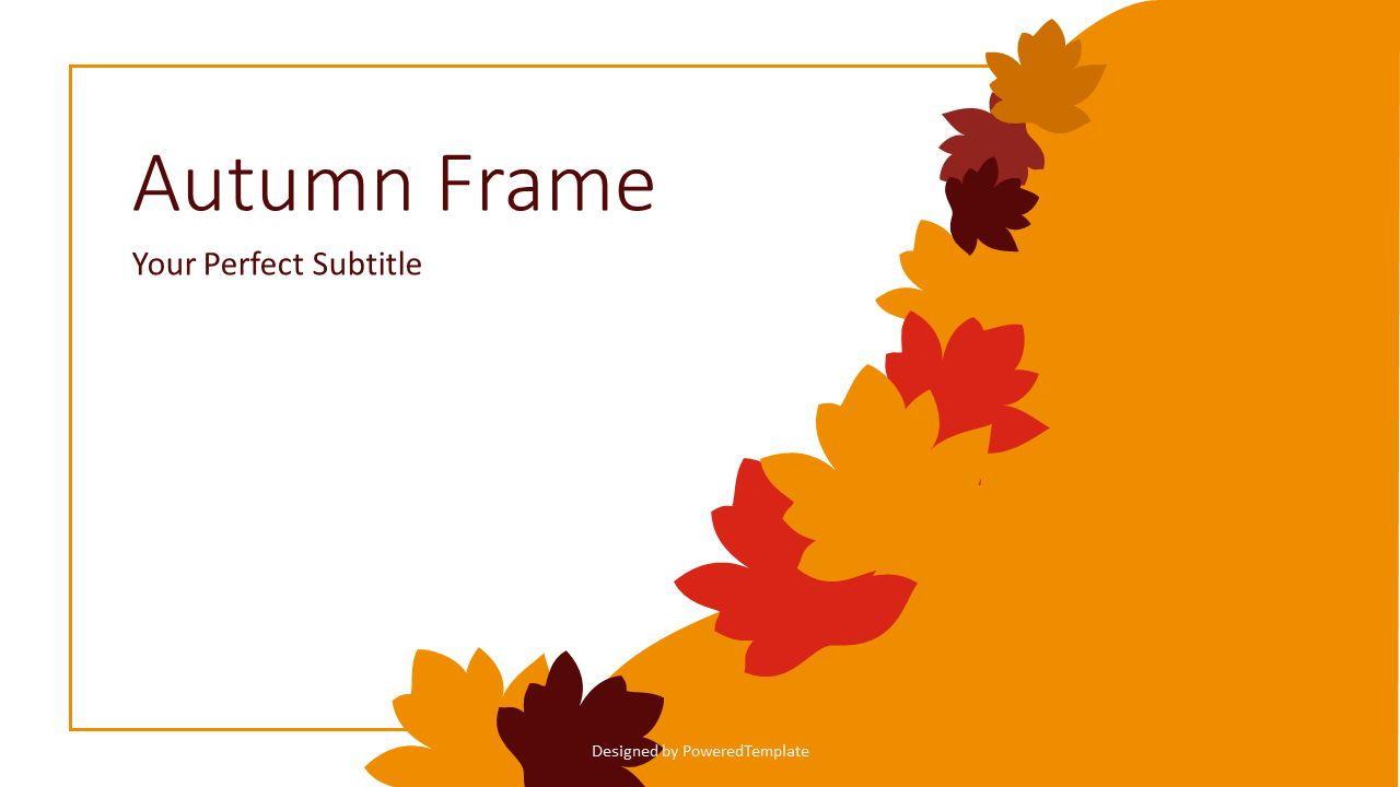 Autumn Frame Cover Slide, Slide 2, 07637, Presentation Templates — PoweredTemplate.com