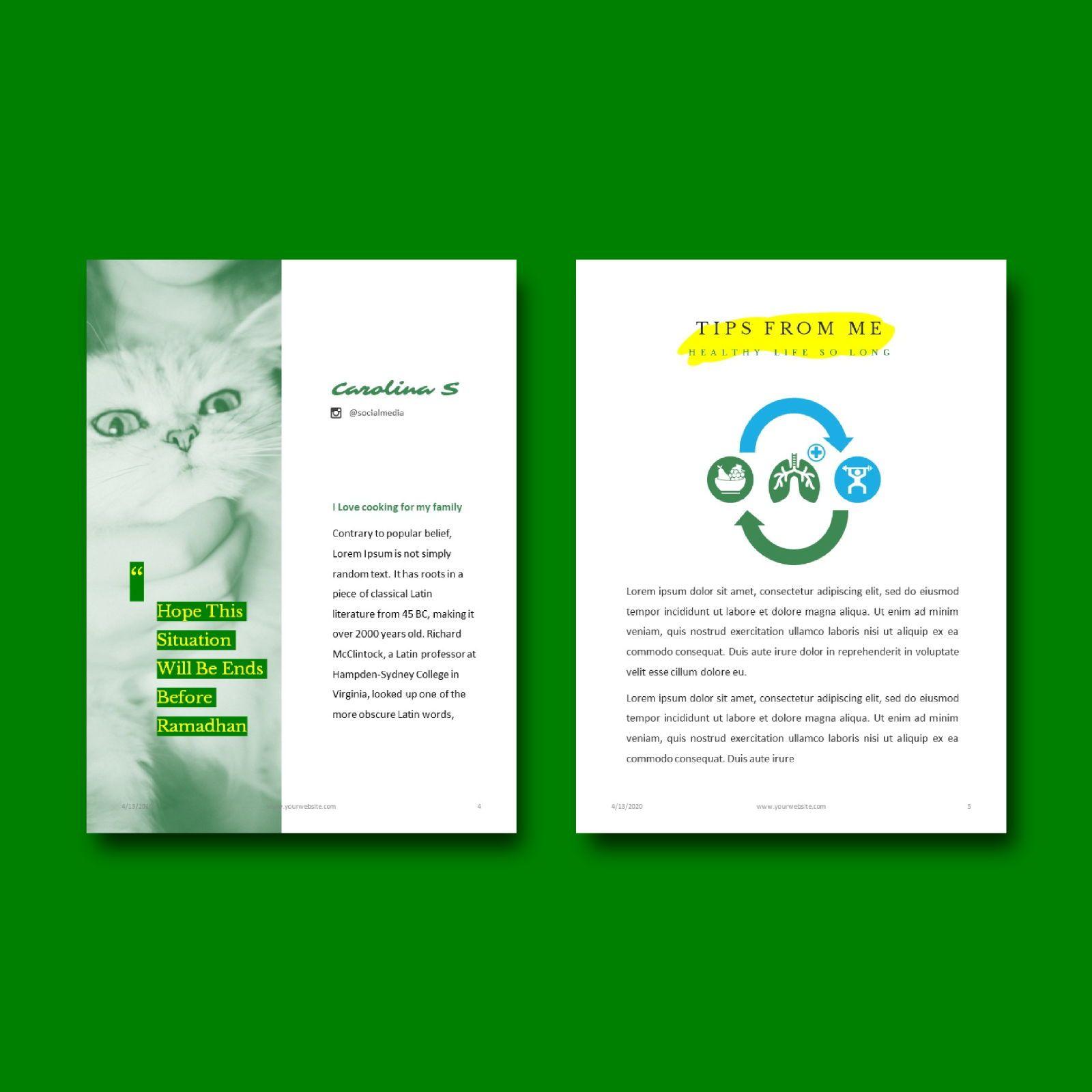 Nutrition for your life keynote presentation template, Slide 3, 07641, Presentation Templates — PoweredTemplate.com