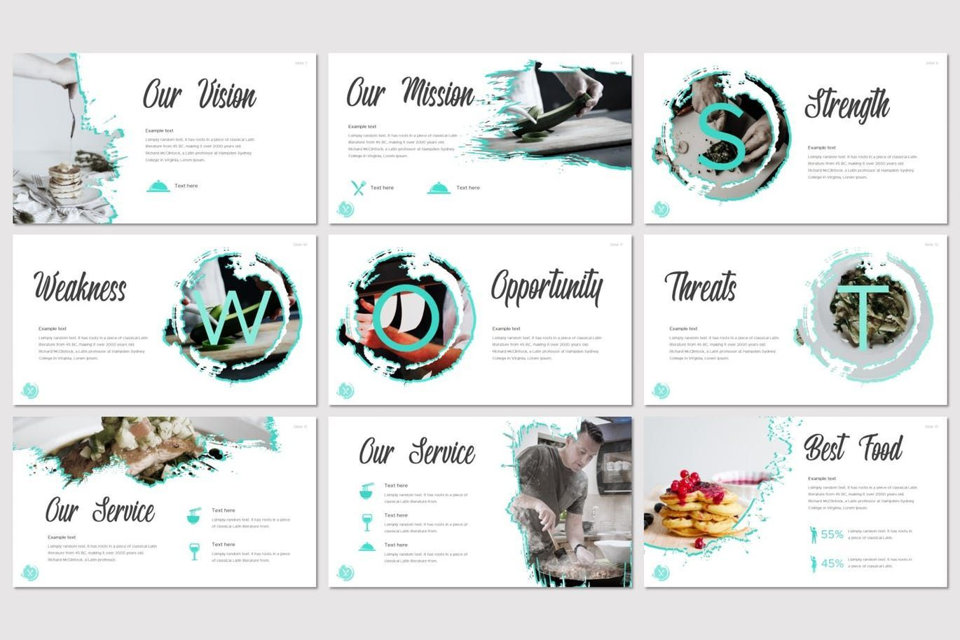 Dish - Keynote Template, Slide 3, 07642, Presentation Templates — PoweredTemplate.com