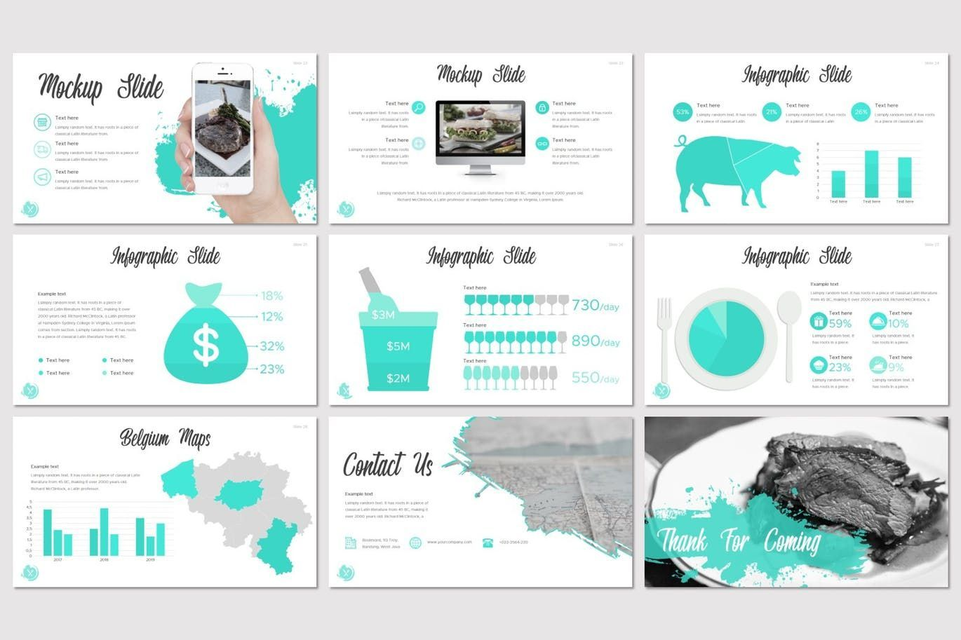 Dish - Keynote Template, Slide 5, 07642, Presentation Templates — PoweredTemplate.com