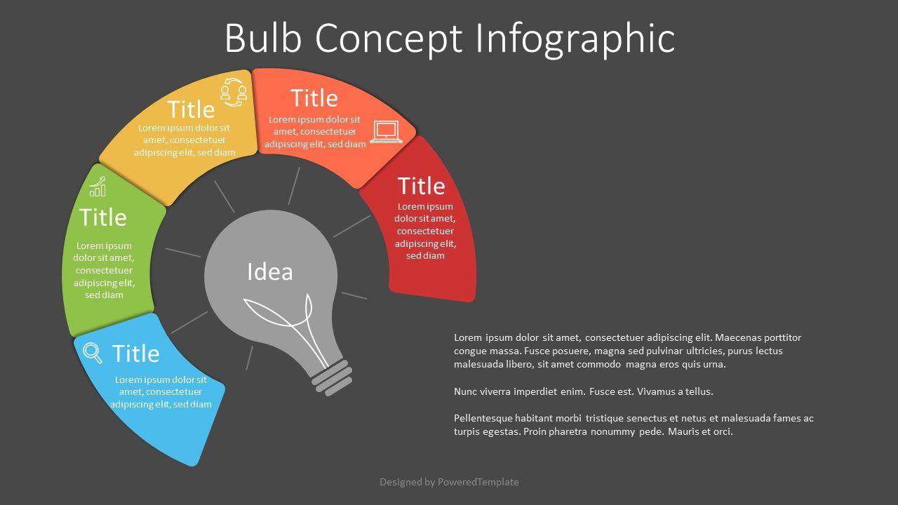 Bulb Concept Infographic, 07643, Infographics — PoweredTemplate.com