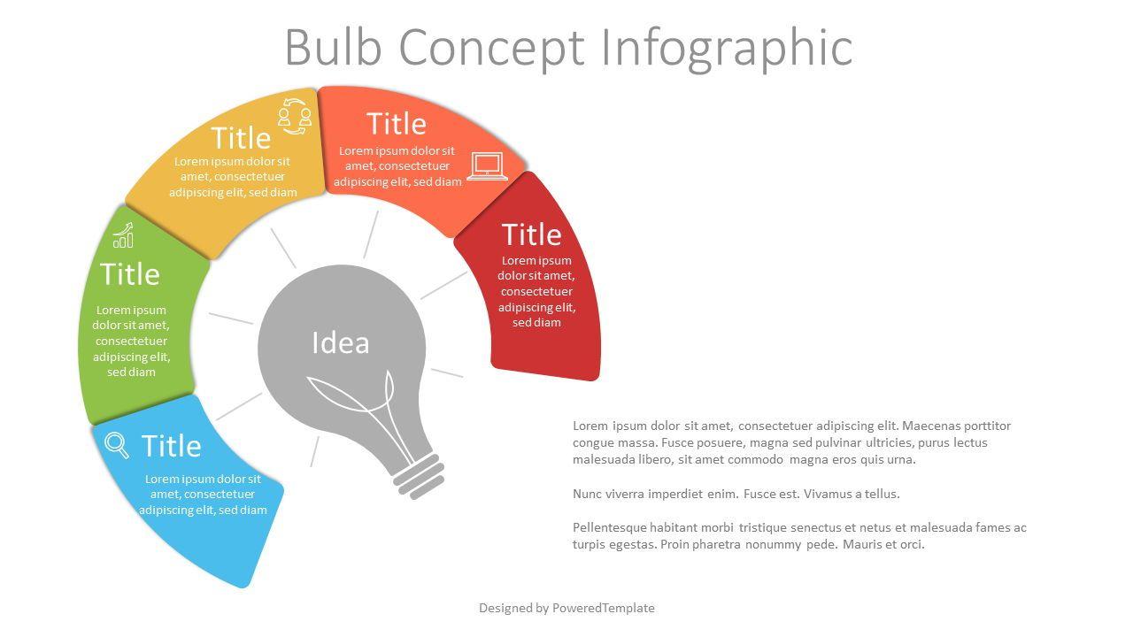 Bulb Concept Infographic, Slide 2, 07643, Infographics — PoweredTemplate.com