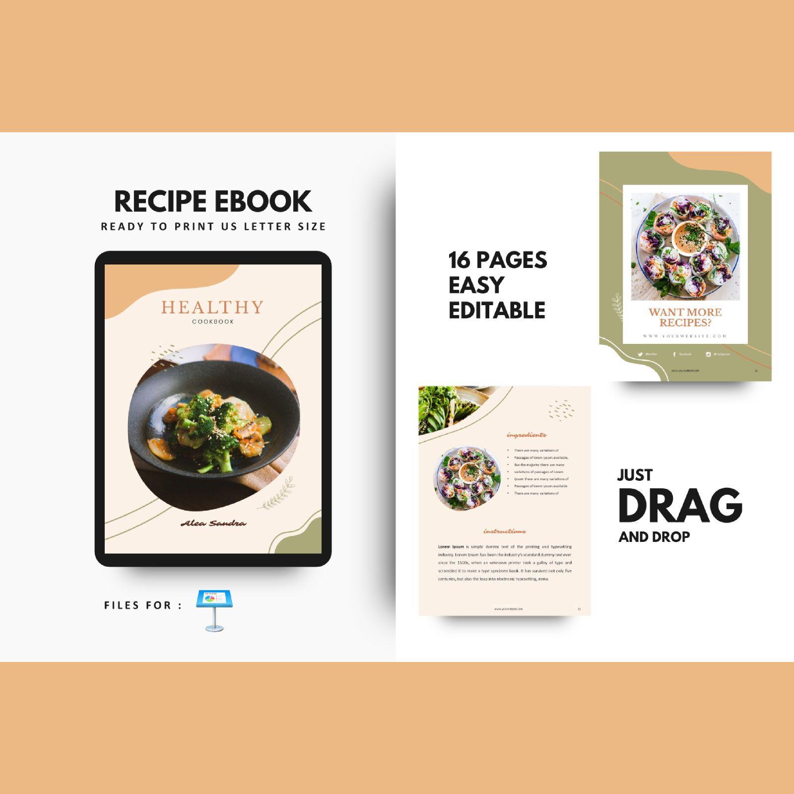 Recipe Book Restaurant Keynote Presentation Template Presentation Template 76839