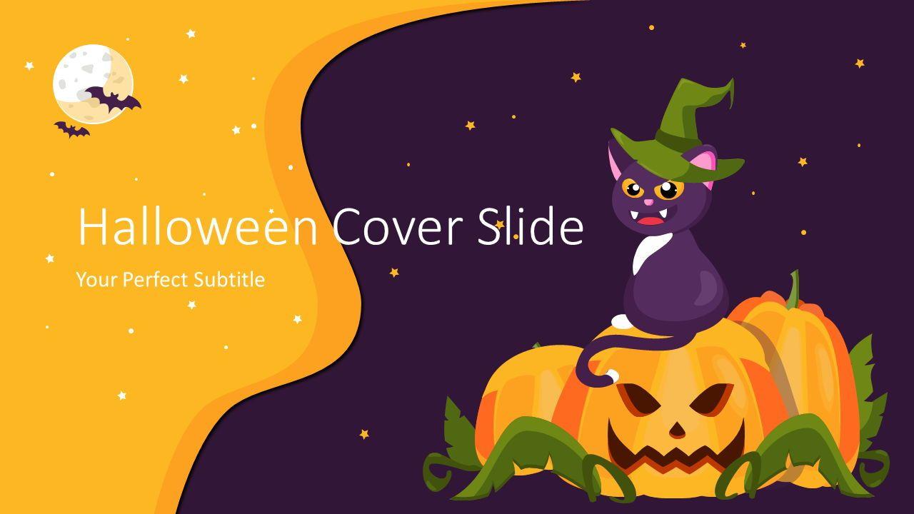 Halloween Cover Slide, 07646, Presentation Templates — PoweredTemplate.com