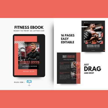 Presentation Templates: Fitness trainer body builder keynote presentation template #07648