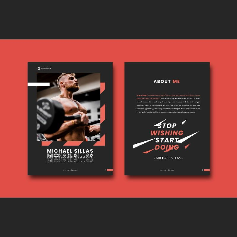Fitness trainer body builder keynote presentation template, Slide 3, 07648, Presentation Templates — PoweredTemplate.com