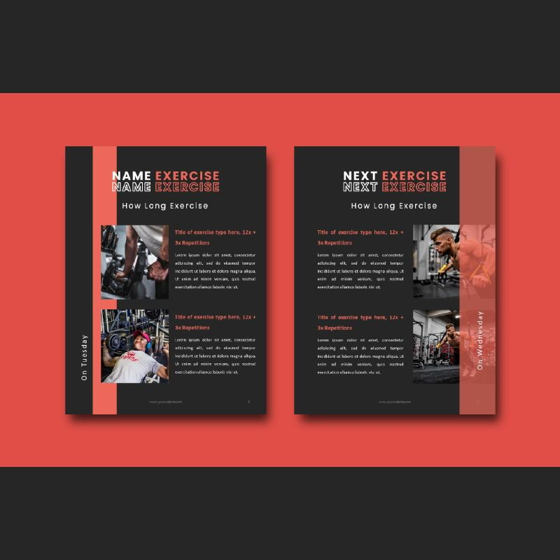 Fitness trainer body builder keynote presentation template, Slide 5, 07648, Presentation Templates — PoweredTemplate.com