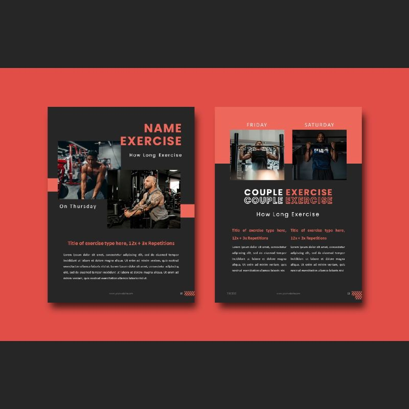 Fitness trainer body builder keynote presentation template, Slide 6, 07648, Presentation Templates — PoweredTemplate.com