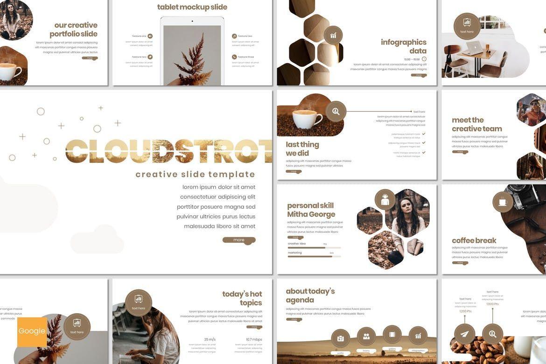 Cloudstrot - Google Slides Template, 07651, Presentation Templates — PoweredTemplate.com