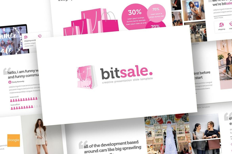 Bitsale - Google Slides Template, 07653, Presentation Templates — PoweredTemplate.com