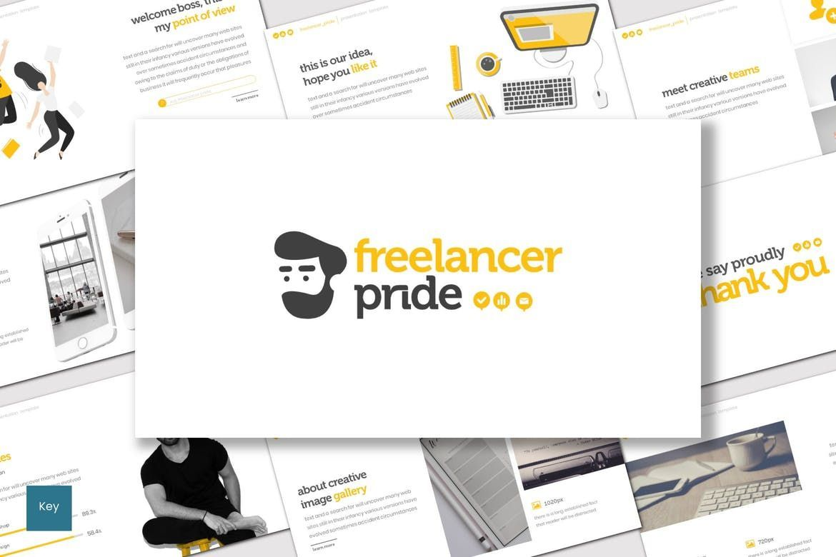 Freelancer Pride - Keynote Template, 07657, Presentation Templates — PoweredTemplate.com