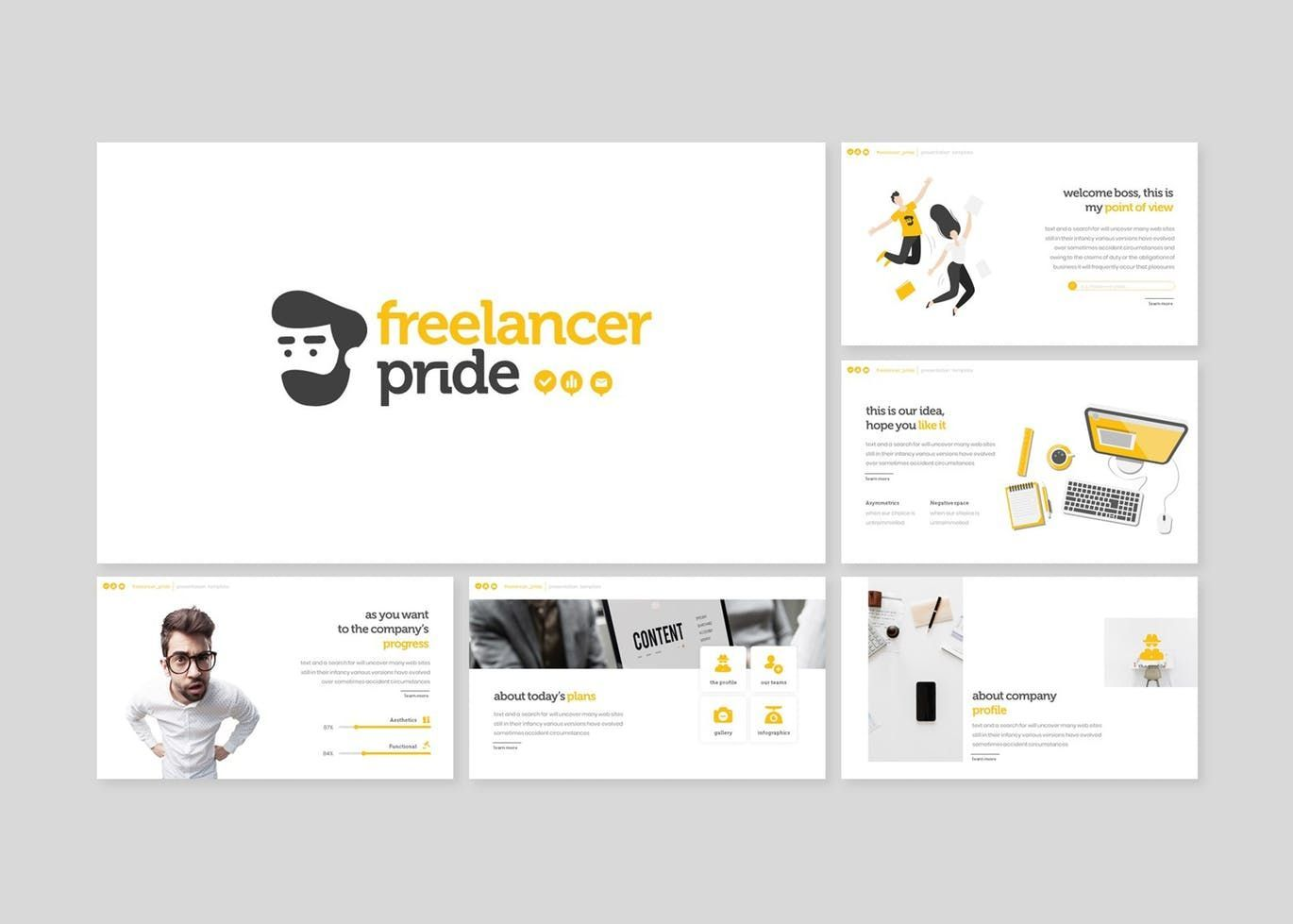 Freelancer Pride - Keynote Template, Slide 2, 07657, Presentation Templates — PoweredTemplate.com