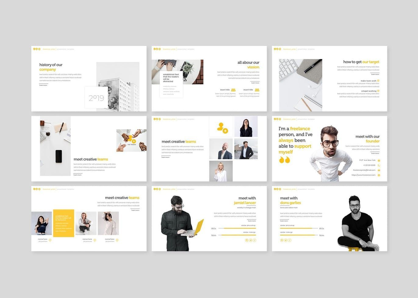 Freelancer Pride - Keynote Template, Slide 3, 07657, Presentation Templates — PoweredTemplate.com