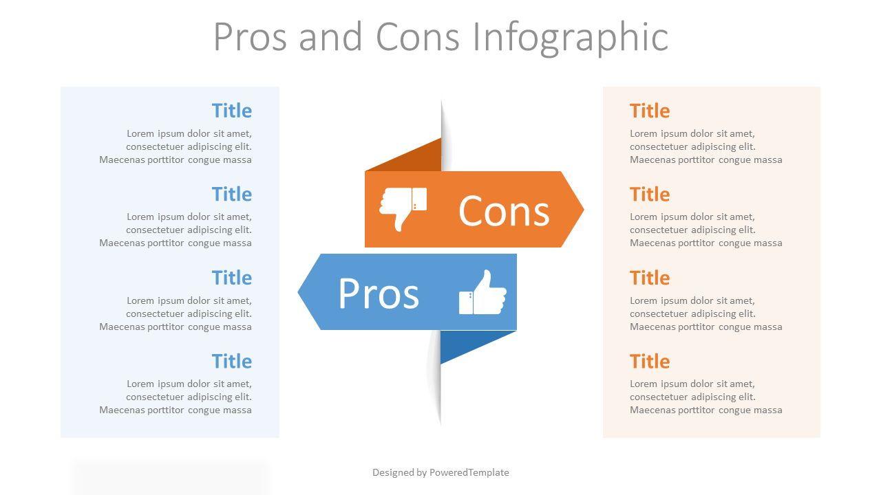 Pros and Cons Infographic, 07658, Business Models — PoweredTemplate.com
